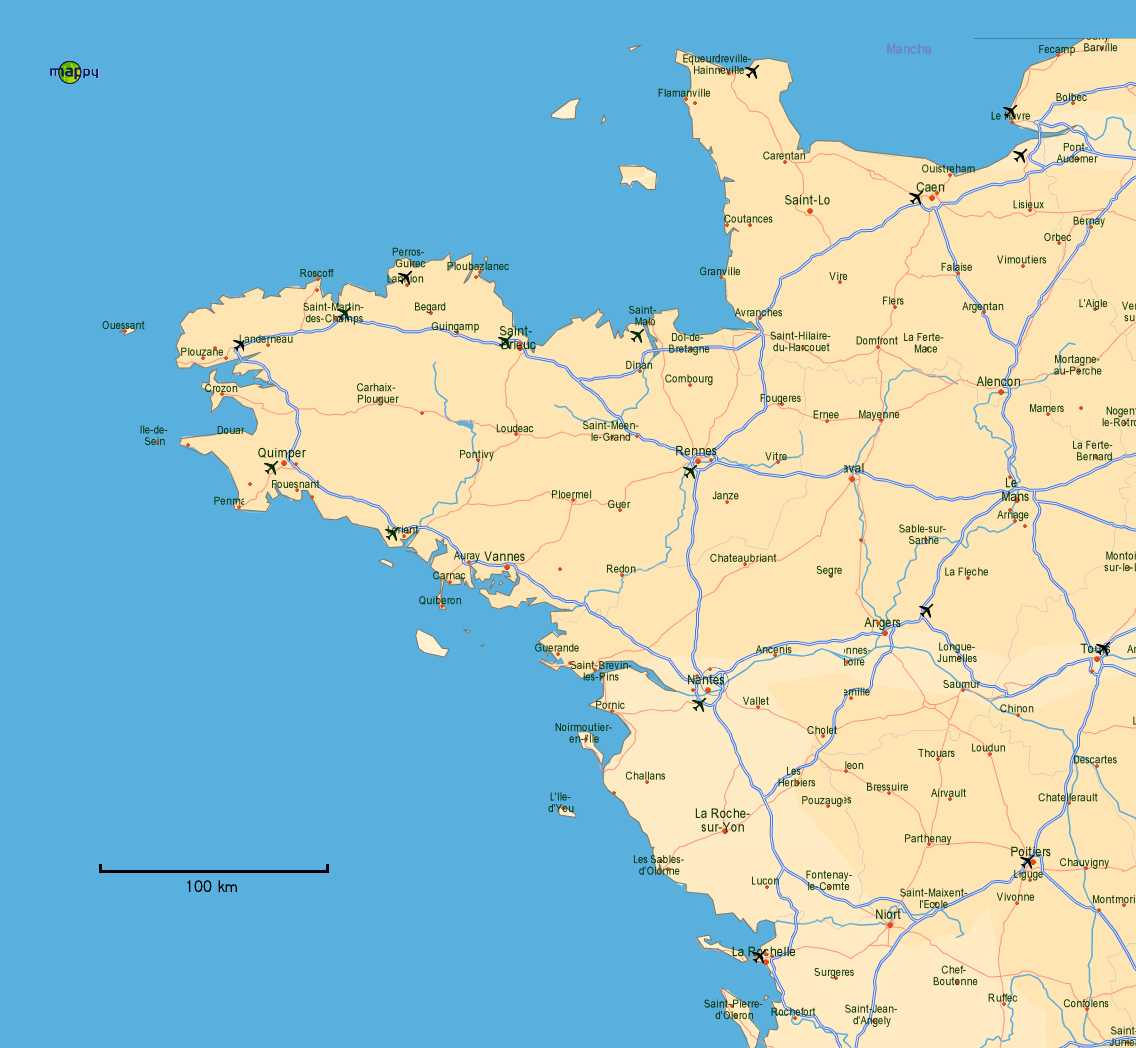 West Of France Map.Ecoop 2006 Location